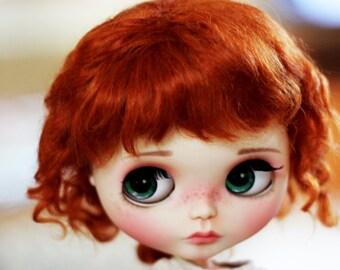 """BEAUTIFUL FOX Mohair curls doll WIG for Custom Blythe and Neo Blythe Custom 10-11"""""""