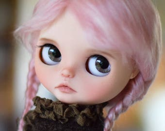 """Pure MOHAIR WIG 10-11"""" Pink Cotton Candy long braids for dolls : Blythe et Neo Blythe Custom, American Girl ..."""