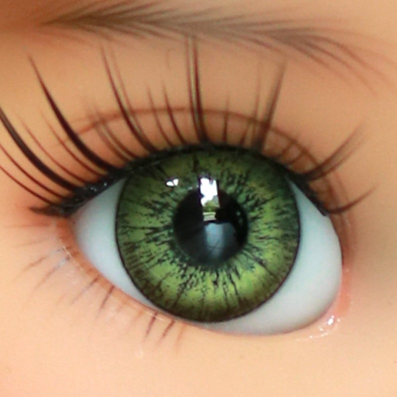 Good-Quality Light Green/&Light Yellow 8mm Glass Round BJD Eyes for Reborn Doll
