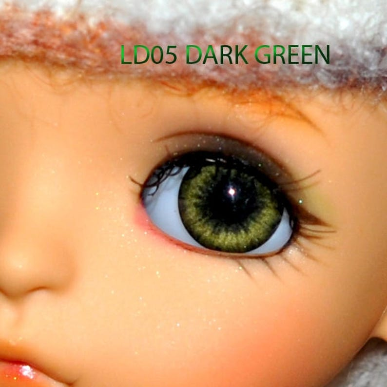 18mm Forest Green Round Acrylic Eyes Reborn Baby Doll Making Supplies
