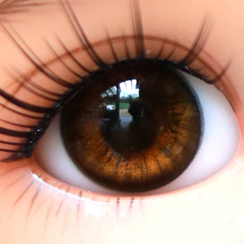Flat Back Style B Acrylic Eyes for Reborn or Other Doll 14mm Blue Green