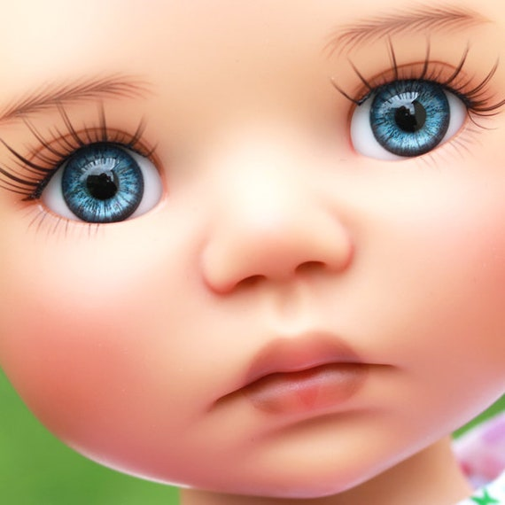 New 18mm Blue Iris/&Black Iris Glass Eyes for Reborn NewBorn//newBorn BJD Doll