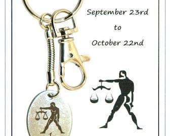 Z017 - Libra (September 23-October 22) Carded Keyring Gift Birthday Zodiac Star Sign