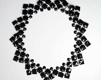 French Jet Victorian NECKLACE - Mourning Jewelry ca 1850