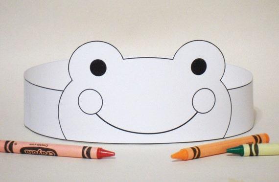 Corona de papel rana de COLOR su imprimible   Etsy