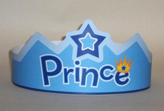 prince paper crown printable etsy