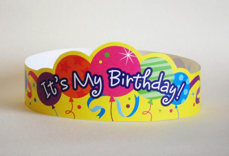 It S My Birthday Paper Crown Printable Etsy