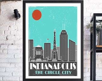 Indianapolis Indianapolis, Indianapolis Skyline Poster, Indianapolis Art, Indiana