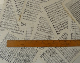 1kg 2 sizes Vintage sheet music paper maybe for art craft decoupage cards