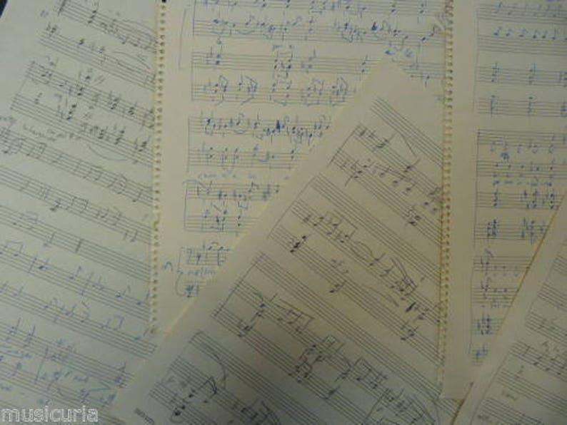 Notenpapier Handwritten Manuskript 20 Blatt Basteln Origami Etsy