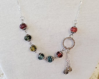 Lampwork - Colorful Lampwork Beaded Necklace - Giftsfor Mom - Women's Necklaces - Lampwork Beads Make Great Gift Ideas