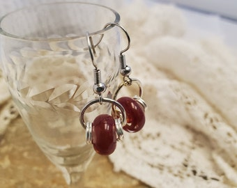 Casually Red Earring Set