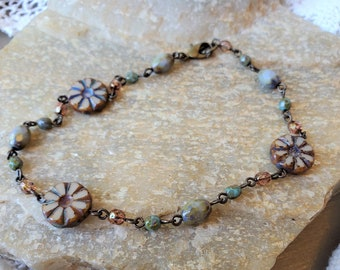 A Womens Flower Anklet Is Perfect For A Summer Beaded Anklet, Handmade & Colorful, A Premium Flower Ankle Bracelet