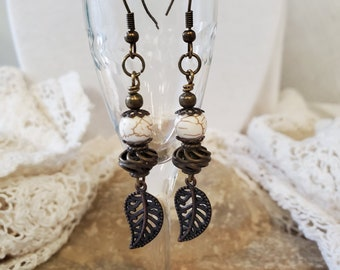 Winter White Stone Earrings