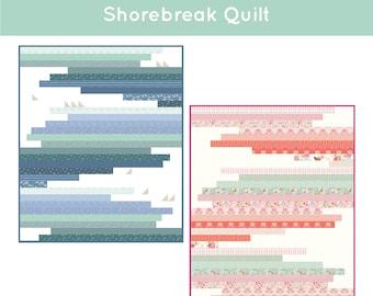 Shorebreak Modern Quilt Pattern by Citrus and Mint Designs PDF instant download - boy quilt