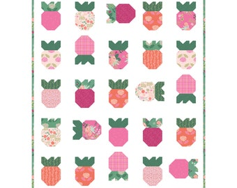 Strawberry Fields Modern Quilt Pattern by Citrus and Mint Designs PDF instant download