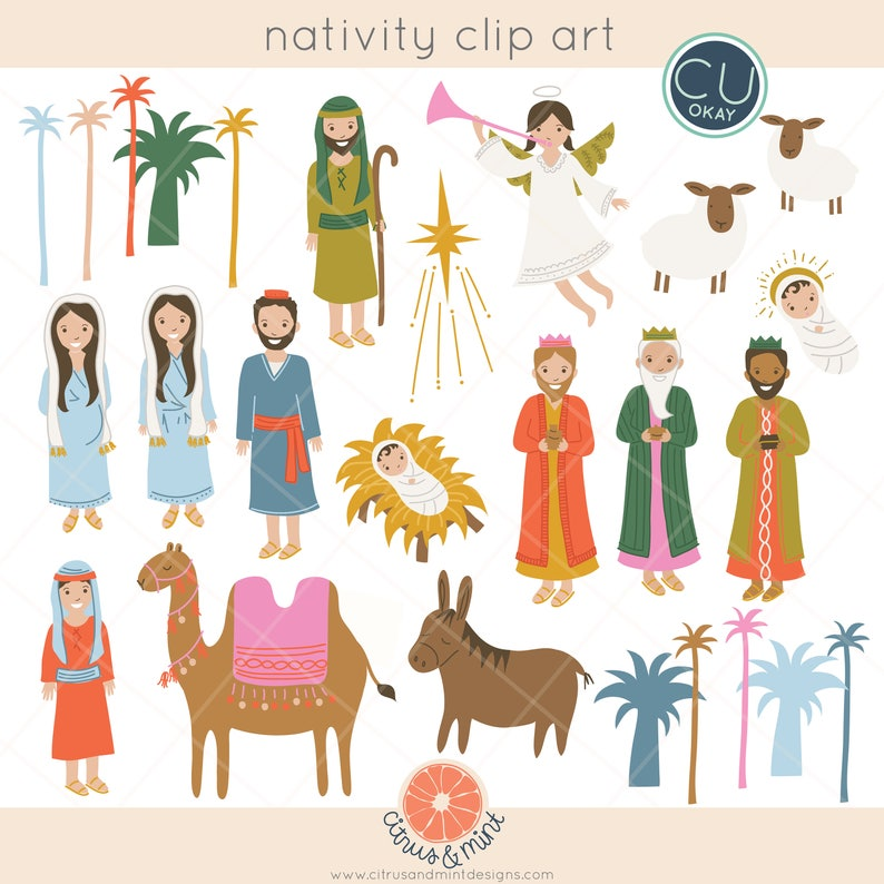 Christmas Nativity Religious Clip Art Graphics  Holiday 2017 image 0