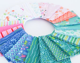 Under the Canopy Jungle Fat Quarter Fabric Bundle by Citrus and Mint Designs for Riley Blake Designs