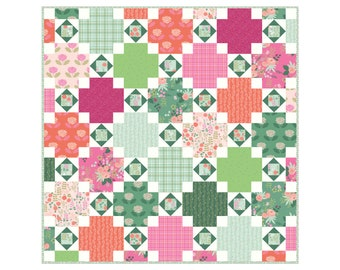 Rose Terrace Modern Quilt Pattern by Citrus and Mint Designs PDF instant download