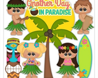 DIGITAL SCRAPBOOKING CLIPART - Aloha