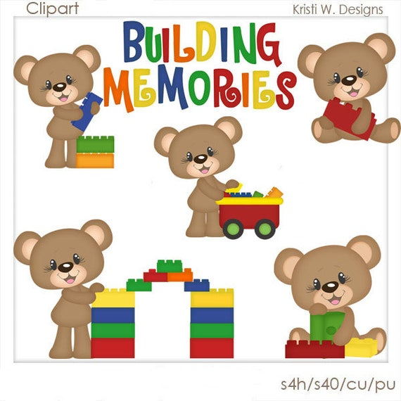 Digital Scrapbooking Clipart Building Memories Etsy
