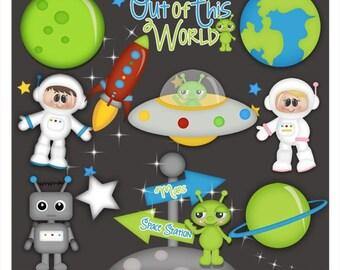 DIGITAL SCRAPBOOKING CLIPART - When I Grow Up Astronaut