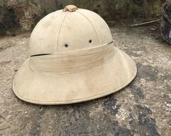 8bd8e4819781d Antique   Vintage Tropical Helmet   Pith Helmet   Sola Topee - Cabinet of  Curiosity