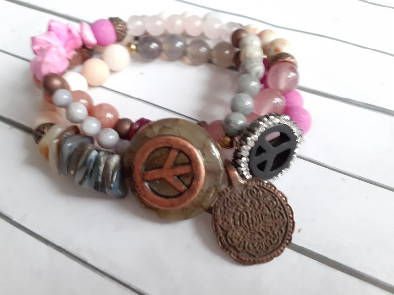 Beaded bracelet begging bracelet set of 3 piece