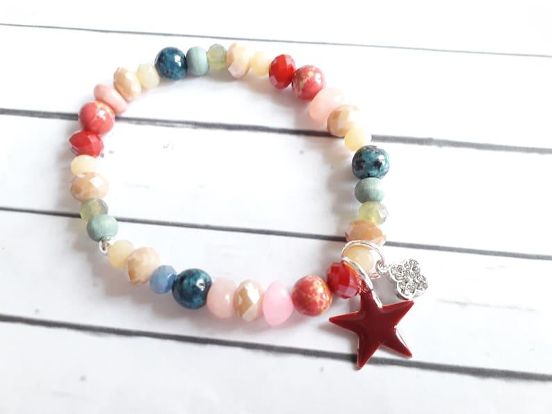 Begging bracelet colorful enamel star clover