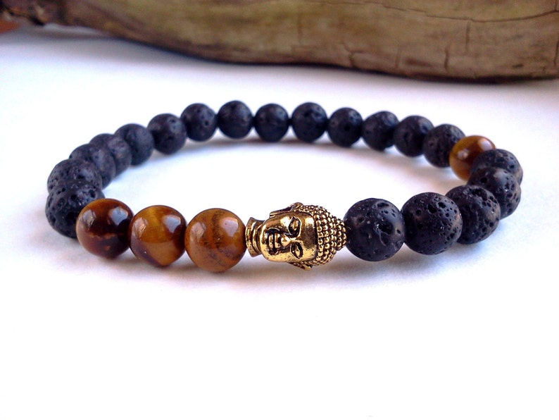 Mens Buddha bracelet Energy and Strenght image 0