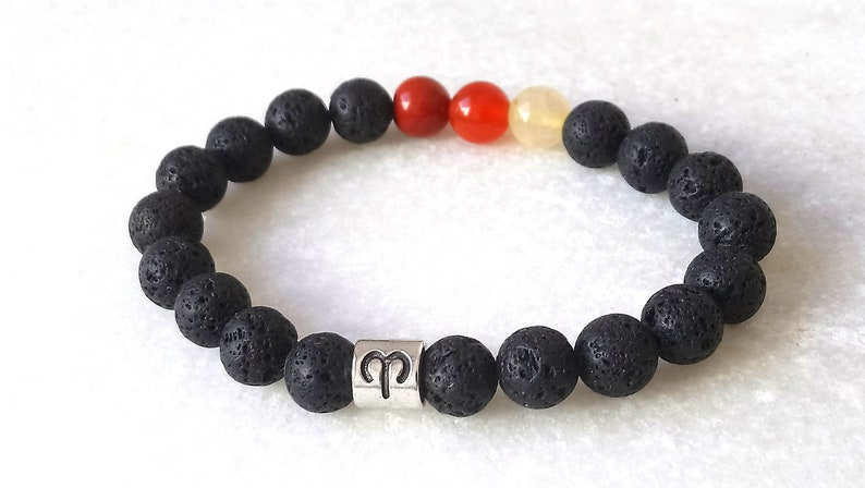 Aries birthstone bracelet Birthstone bracelet Horoscope bracelet Aries bracelet Zodiac bracelet