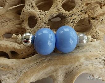 Periwinkle Blue Lampwork (Per Ea Bead)