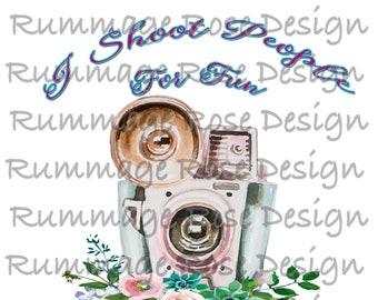 Sublimation Transfer 8.5x11 Ready to Press -- Heat transfer Design -- HTV--photography--camera--photographer