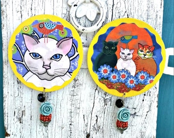 Cat MagNet, Refrigerator Magnet, Fridge MagNet, Kitty Fridge Magnet, CAT Gift
