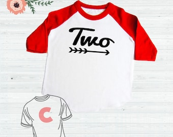 2 Year Old Birthday Shirt 2nd Baseball Two Toddler Red