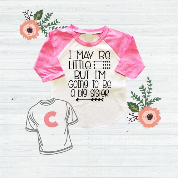 Pregnancy Announcement New Baby Gift Big Sister Shirt Promote