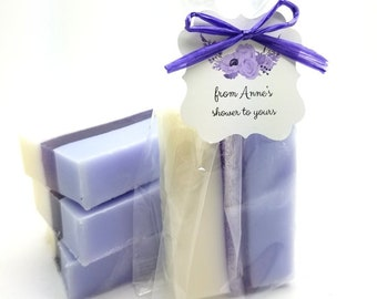 e2edabc8cdb Soap Shower Favors in choice of color and scent Custom Tags baby showers