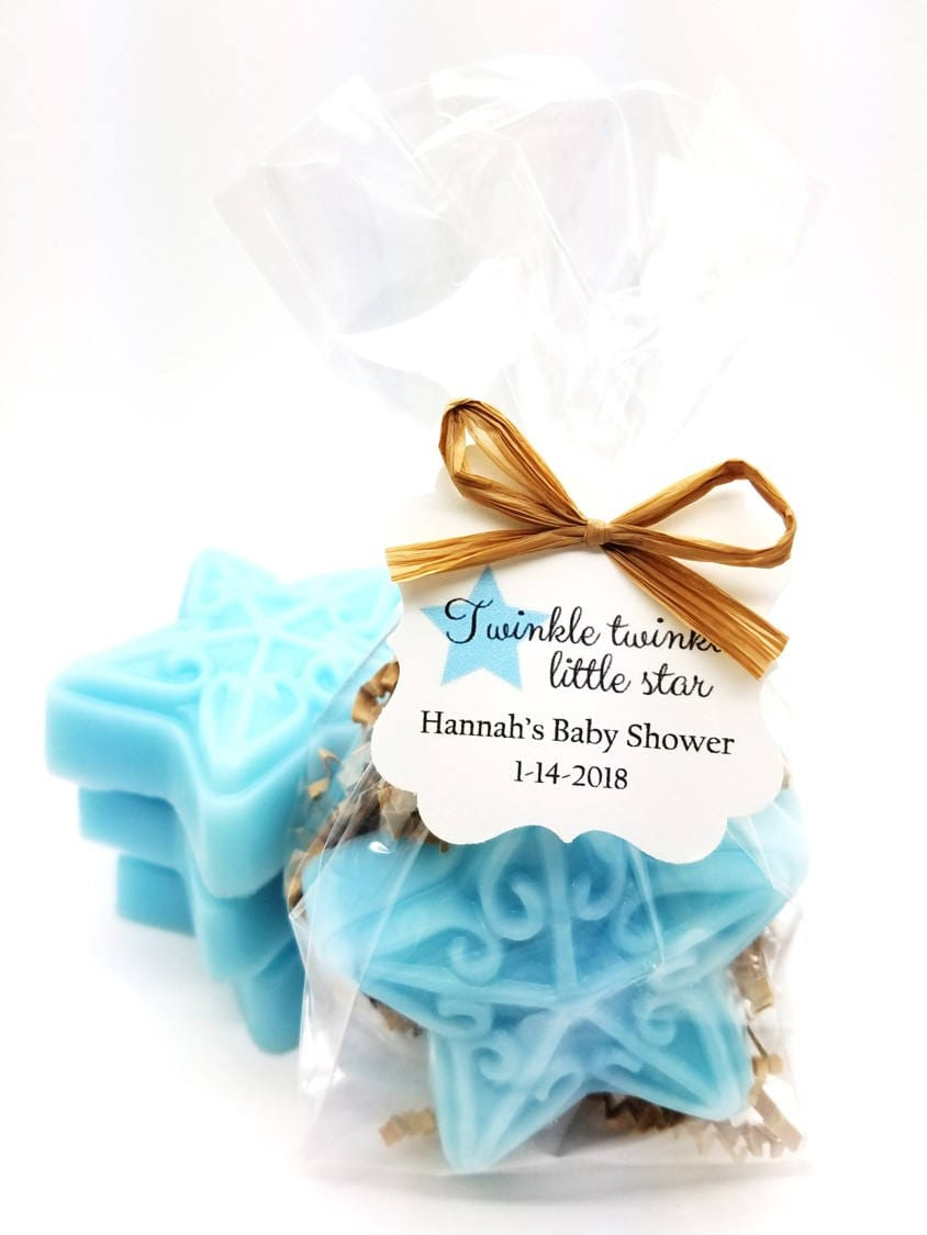 Blue Star Soap Baby Shower Favors with Custom Tags Twinkle