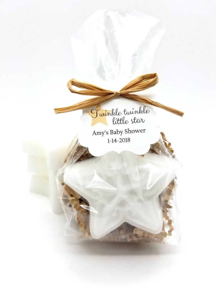 White Star Soap Baby Shower Favors with Custom Tags Twinkle