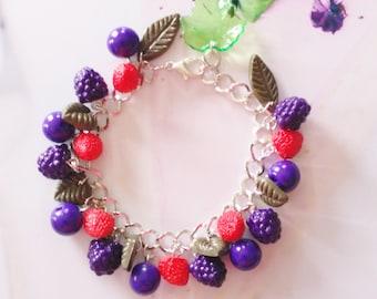 bracelet blackberries polymer clay