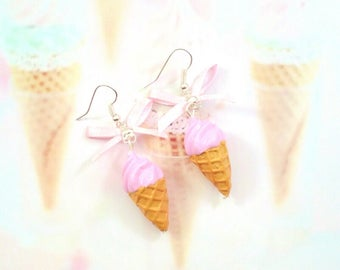 earrings ice cream italian polymer clay