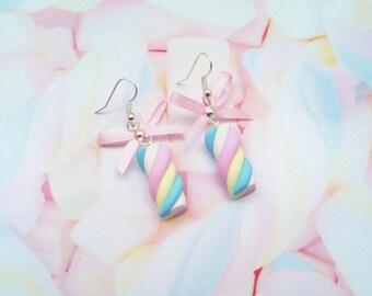 earrings marshmallows polymer clay