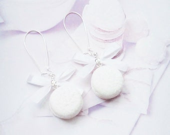 earrings coconut macarons polymer clay