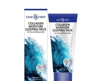 DEARDERM Collagen Moisture Sleeping Pack for Dry & Mature Skin 100ml/3.4 fl.oz