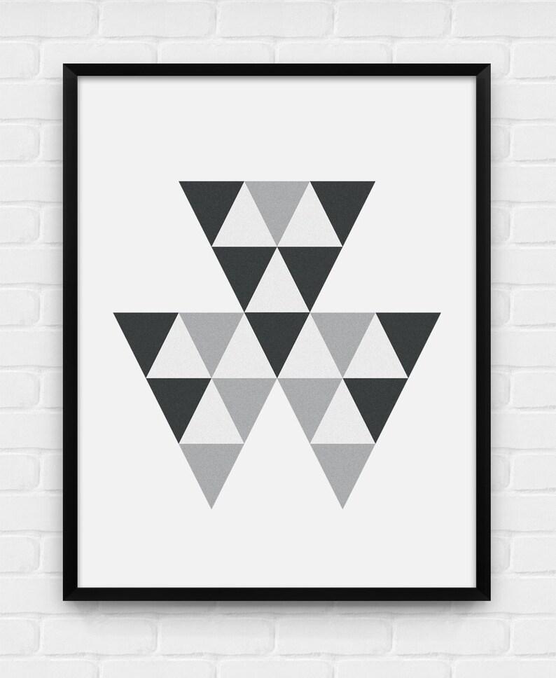 Geometryczne Trójkąty Plakat Do Druku Sztuka Cyfrowa Pobieranie I Drukowanie Jpg