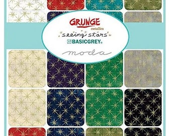 BasicGrey Grunge Basics Tan Junior Jelly Roll 20 2.5-inch Strips Moda Fabrics 30150JJR 162