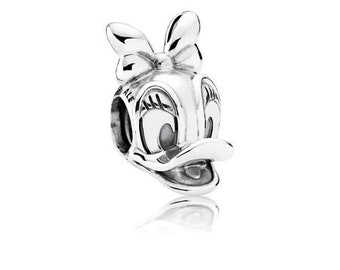 Beads Jewelry & Accessories Provided Authentic 925 Sterling Silve Round Beads White Enamel Donald Duck Fits Pandora Bracelets Diy Jewelry Accessorie Making