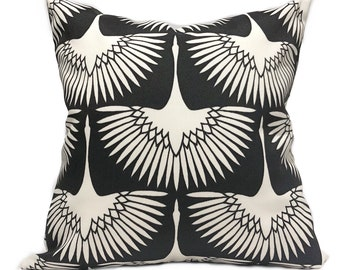 Black Outdoor Pillow Etsy