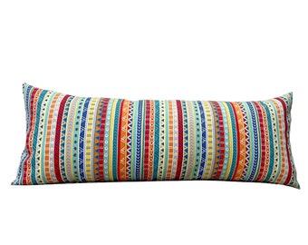 14x24 Blue Splash Lumbar Pillow Cover