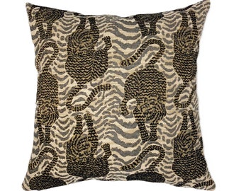 3043284a91445 Chenille Tiger Throw Pillow Cover